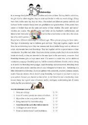 English Worksheets: relationships