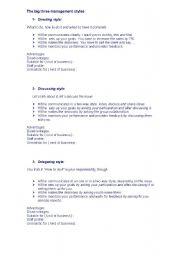 English Worksheets: Management styles