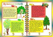 English Worksheets: My Backyard Orchards