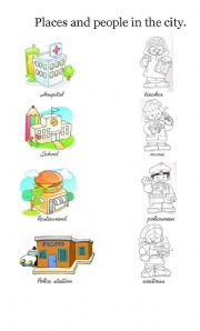 Places in town english worksheets