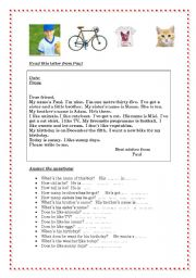 English Worksheets: Paul