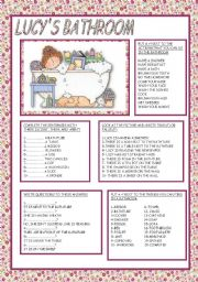 English Worksheets: LUCY´S BATHROOM