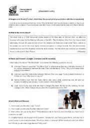 English Worksheets: Conversation Class based on a video talking about the film