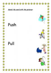 Push And Pull Worksheets For First Grade Push Best Free