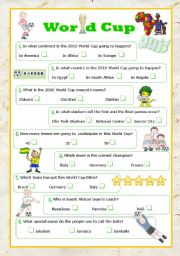English Worksheet: World Cup quiz