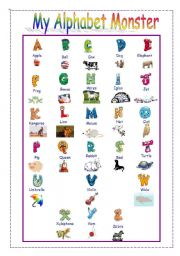 My Alphabet Monster - A or An