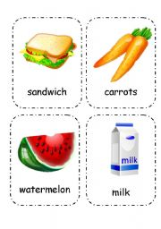 English Worksheet: Food and Drink - Flashcards (Editable) 2/4