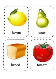 English Worksheet: Food and Drink - Flashcards (Editable) 3/4