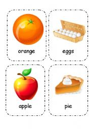 English Worksheet: Food and Drink - Flashcards (Editable) 4/4