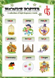 English Worksheet: PHONICS POSTER 1