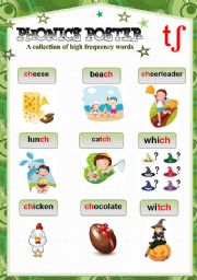 English Worksheet: PHONICS POSTER 4