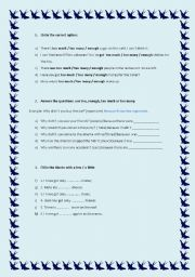 English Worksheet: Quantity words (12.08.08)