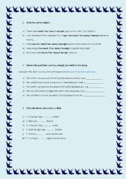 English Worksheets: Quantity words (12.08.08)