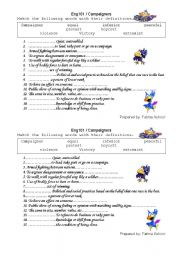 English Worksheets: campaigners