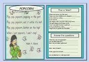English Worksheets: POPCORN