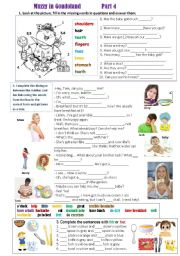 English Worksheet: Muzzy in Gondoland  (Part 4)