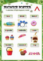 English Worksheets: PHONICS POSTER 6