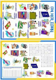 English Worksheets: On Holiday