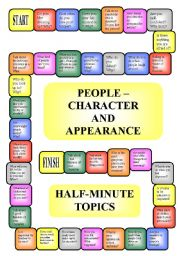 English Worksheets: People - appearance and character - boardgame (editable, B/W)