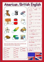 English Worksheets: American Vs British English