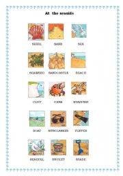 English Worksheet: At the seaside part 1