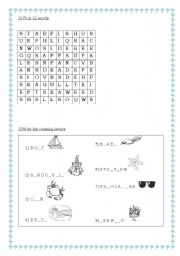 English Worksheet: At the seaside part 2