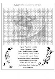 FIFA 2010 WORLD CUP TEAMS: PUZZLE