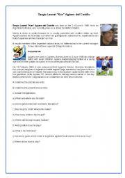 English Worksheets: Kun Aguero