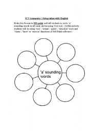English Worksheets: ICT-MS Pain integration english-a sounding words
