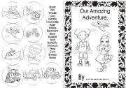 English Worksheet: Our Amazing Adventure (Part 1) First 8 pages