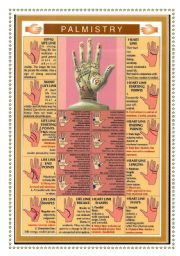 English Worksheet: PALMISTRY. The art of hand reading