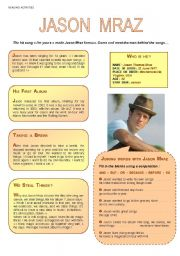 English worksheet: JASON   MRAZ   I´m yours