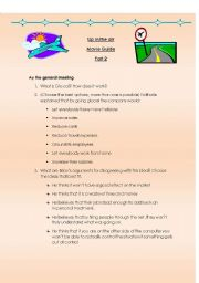 English Worksheet: Up in the air Movie guide part 2