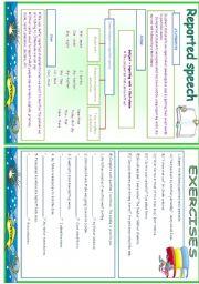 English Worksheet: Reported Speech