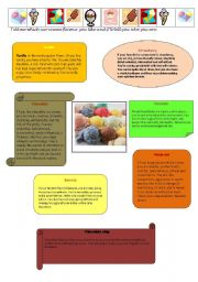 English Worksheet: ice-cream and personality