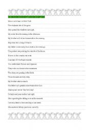 English Worksheet: Write negative and interrogative questions