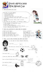 English Worksheet: FIFA World Cup - Reading and Vocabulary