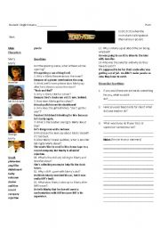 Back to the Future Part I: Worksheet 1 of 7