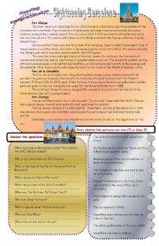 English Worksheets: Reading comprehension - Sightseeing Barcelona