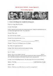 English Worksheet: Making friends - The Big Bang Theory