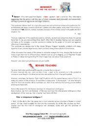 English Worksheets: BURNOUT