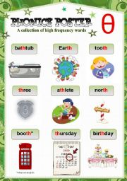 English Worksheet: PHONICS POSTER 8 ( th sound)