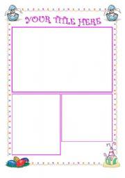 English worksheet: easter template (editable)