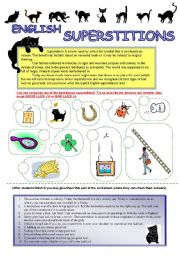 English Worksheet: English Superstitions