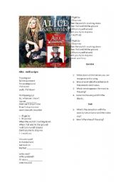 English Worksheets: Song activity Avril Lavigne - Underground
