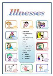 Illnesses pictionary