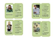Famous Celebrity Profile Mini-biography Cards 1