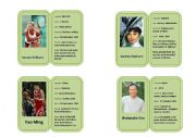 Famous Celebrity Profile Mini-biography Cards 2