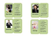 Famous Celebrity Profile Mini-biography Cards 3