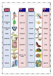 British & Australian English: Pictionary 2/2